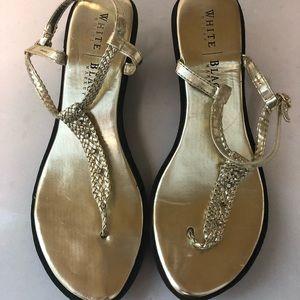 White House/Black Market Gold Sandals